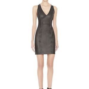 Alice & Olivia Leather Dress with Chain Detail